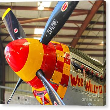 Mustang P-51d Wee Willie Canvas Print by Gregory Dyer