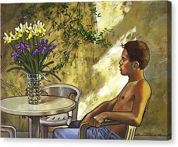 Mustapha's Garden Canvas Print by Douglas Simonson