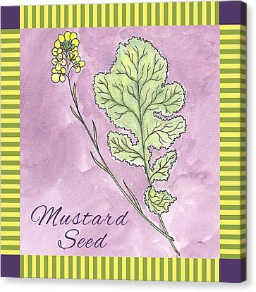 Mustard Seed  Canvas Print by Christy Beckwith