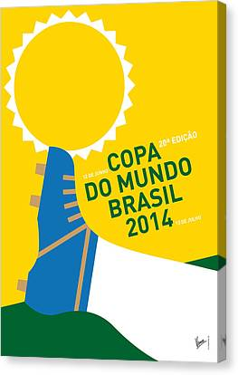 My 2014 World Cup Soccer Brazil - Rio Minimal Poster Canvas Print by Chungkong Art