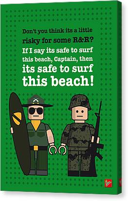 My Apocalypse Now Lego Dialogue Poster Canvas Print by Chungkong Art