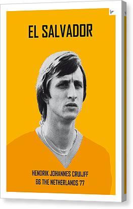 My Cruijff Soccer Legend Poster Canvas Print by Chungkong Art