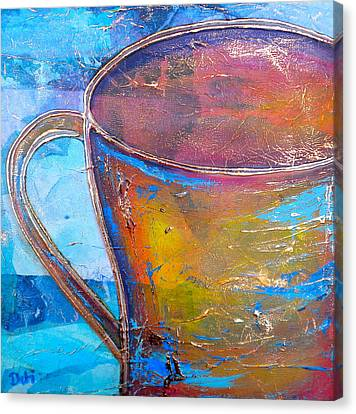 My Cup Of Tea Canvas Print by Debi Starr