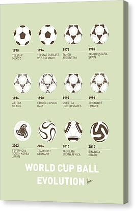 My Evolution Soccer Ball Minimal Poster Canvas Print by Chungkong Art