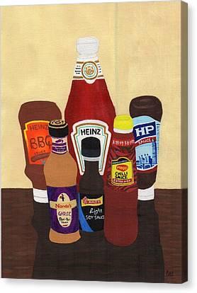 My Favourite Sauces Canvas Print by Bav Patel