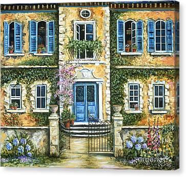 My French Villa Canvas Print by Marilyn Dunlap