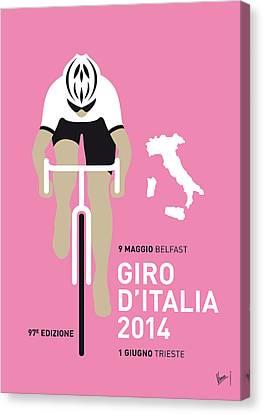 My Giro D Italia Minimal Poster 2014 Canvas Print by Chungkong Art