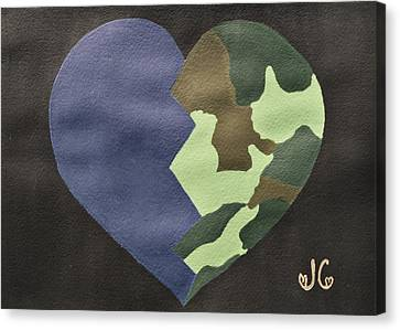 My Heart Canvas Print by Jessica Cruz