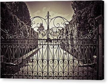 My Home Is My Fortress Vintage Canvas Print by Eti Reid