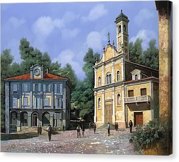 My Home Village Canvas Print by Guido Borelli