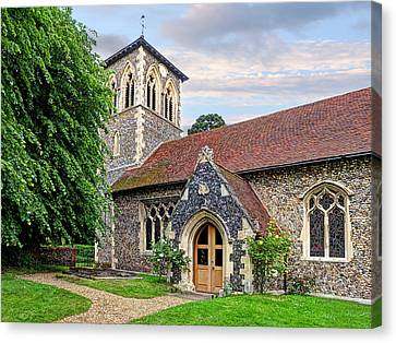 My House Is Yours - Ancient Stone Church Canvas Print by Gill Billington
