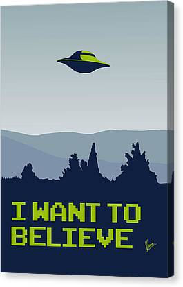 My I Want To Believe Minimal Poster Canvas Print by Chungkong Art