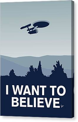 My I Want To Believe Minimal Poster-enterprice Canvas Print by Chungkong Art