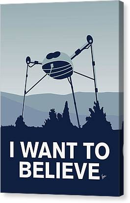 My I Want To Believe Minimal Poster-war-of-the-worlds Canvas Print by Chungkong Art