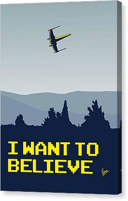 My I Want To Believe Minimal Poster- Xwing Canvas Print by Chungkong Art