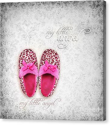 My Little Angel Bw Canvas Print by Prajakta P