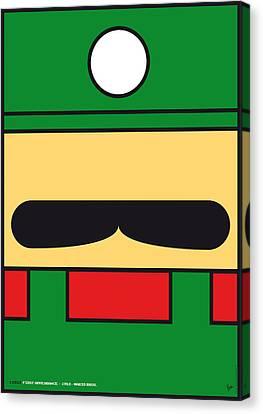 My Mariobros Fig 02 Minimal Poster Canvas Print by Chungkong Art