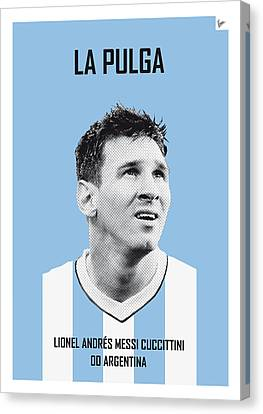 My Messi Soccer Legend Poster Canvas Print by Chungkong Art