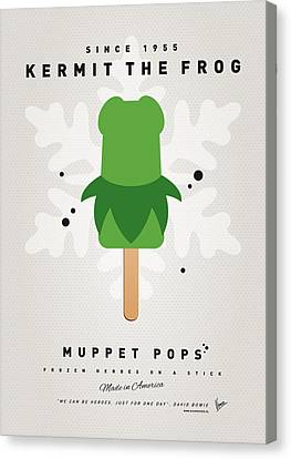 My Muppet Ice Pop - Kermit Canvas Print by Chungkong Art