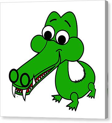 My Name Is Croc-o-dile Canvas Print by Asbjorn Lonvig