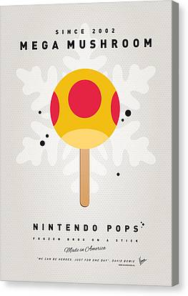 My Nintendo Ice Pop - Mega Mushroom Canvas Print by Chungkong Art