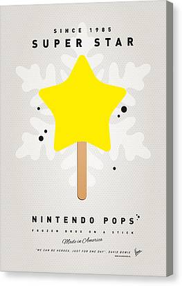 My Nintendo Ice Pop - Super Star Canvas Print by Chungkong Art