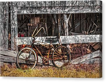My Old Bike Canvas Print by Debra and Dave Vanderlaan