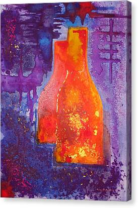 My Old Wine Bottles Canvas Print by Mario Perez
