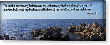 My Rock My Fortress Canvas Print by Sheri McLeroy