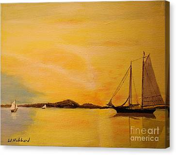 My Ship Lies Awaiting In The Harbor Canvas Print by Bill Hubbard