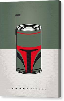 My Star Warhols Boba Fett Minimal Can Poster Canvas Print by Chungkong Art