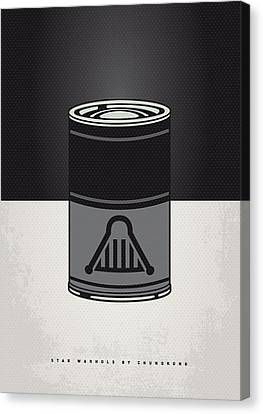 My Star Warhols Darth Vader Minimal Can Poster Canvas Print by Chungkong Art