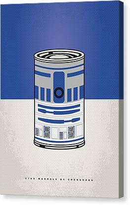 My Star Warhols R2d2 Minimal Can Poster Canvas Print by Chungkong Art