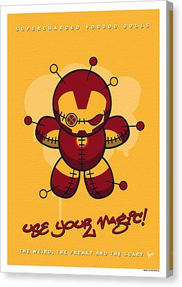 My Supercharged Voodoo Dolls Ironman Canvas Print by Chungkong Art