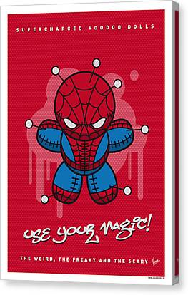 My Supercharged Voodoo Dolls Spiderman Canvas Print by Chungkong Art