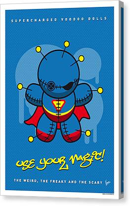 My Supercharged Voodoo Dolls Superman Canvas Print by Chungkong Art
