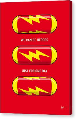 My Superhero Pills - The Flash Canvas Print by Chungkong Art