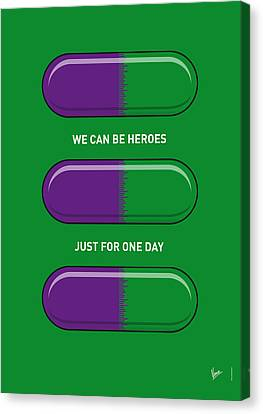 My Superhero Pills - The Hulk Canvas Print by Chungkong Art