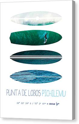 My Surfspots Poster-3-punta De Lobos-chile Canvas Print by Chungkong Art