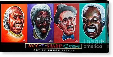 My-t-sharp Crew Canvas Print by Chuck Styles