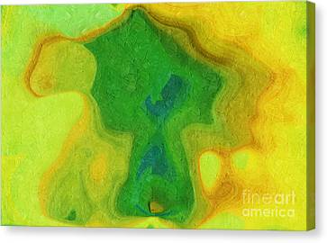 My Teddy Bear - Digital Painting - Abstract Canvas Print by Andee Design