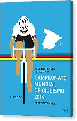 My Uci Road World Championships Minimal Poster 2014 Canvas Print by Chungkong Art