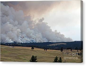 Canvas Print featuring the photograph Myrtle Fire West Of Wind Cave National Park by Bill Gabbert