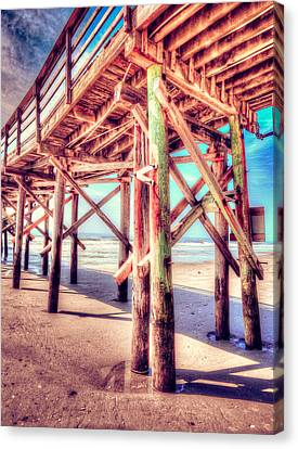 Myrtle Pier In Color Canvas Print by Mark Hazelton