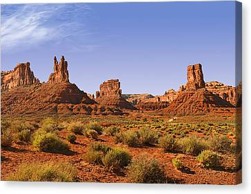 Mysterious Valley Of The Gods Canvas Print by Christine Till