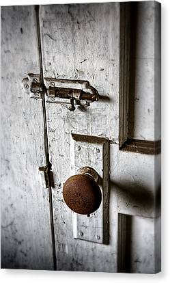 Mystery Door Canvas Print by Caitlyn  Grasso