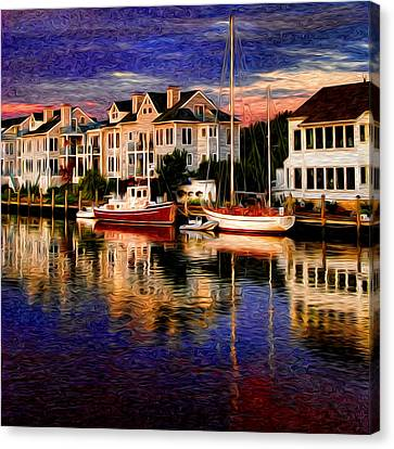 Mystic Ct Canvas Print by Sabine Jacobs