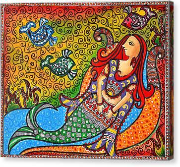 Mystic Mermaid Canvas Print by Deepti Mittal