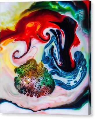 Mystic Milk Number 1 Canvas Print by Sage Moonshadow Voortague