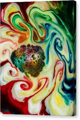 Mystic Milk Number 10 Canvas Print by Sage Moonshadow Voortague